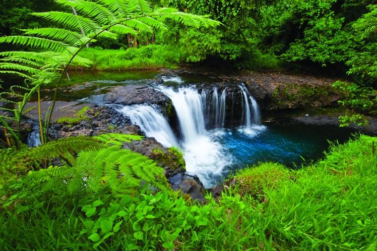 Togitogiga Waterfall Upolu by David Kirkland