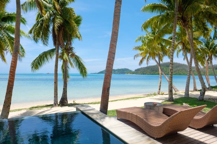 Tropica Island Resort beachfront Bure