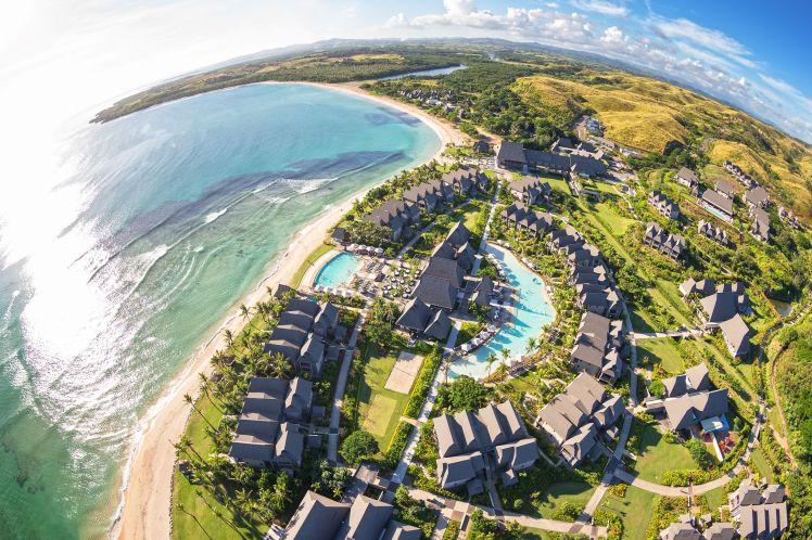 Fisheye Aerial View of InterContinental Fiji Golf Resort & Spa