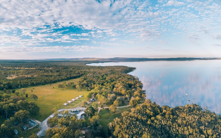 HABITAT aerial image Noosa Everglades