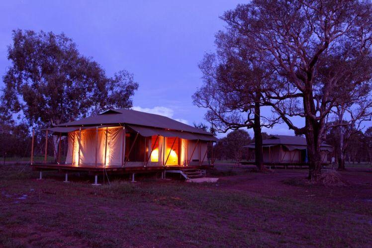 WILDMAN WILDERNESS LODGE - evening exterior Safari tent